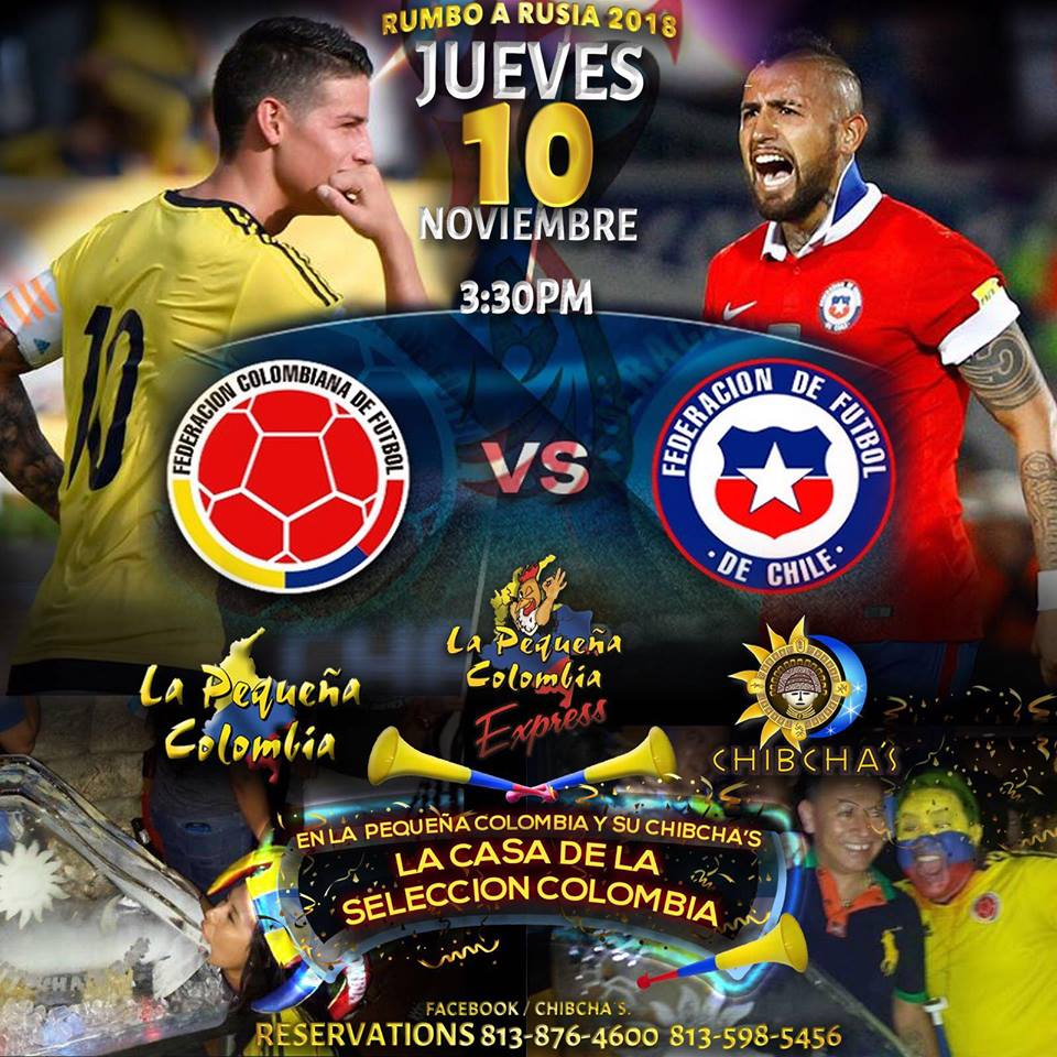 Colombia against Chile