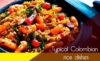 Typical colombian rice dishes